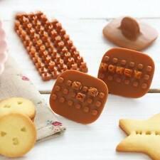 Alphabet Letter Cookie Press Stamp Embosser Cutter Fondant Mould Cake DIY