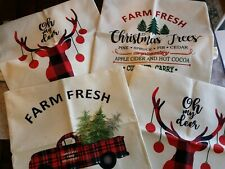 """Nib Lubots Christmas Avcent Pillow Covers - 18"""" x 18"""" (Set Of 4)"""