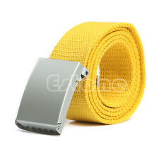 Unisex Waist Belt Mens Boys Plain Webbing Waistband Casual Canvas Belt NEW