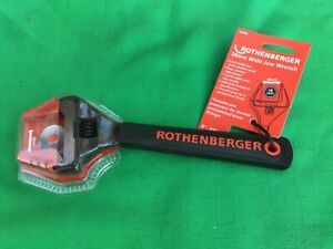 """Rothenberger Adjustable Wide Jaw Wrench 8"""" with Soft Jaw Protector- 70460R"""