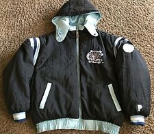 PRO PLAYER LINED FILLED NORTH CAROLINA NCAA REVERSIBLE  HOODED COAT  MEN'S LARGE