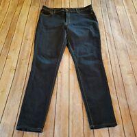 Jordache Size 16 High Rise Super Skinny Stretch Jeans Dark Wash Womens