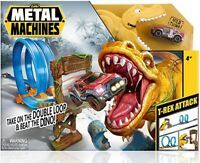 Zuru Metal Machines T-Rex Attack Dinosaur Car Toy Kids Play Set
