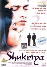 SHUKRIYA - TTE BOLLYWOOD DVD - Aftab Shivdasani, Shriya Saran, Anupam Kher.