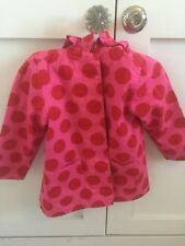 John Lewis Girls Pink Spotted Coat Age 3-4 Years