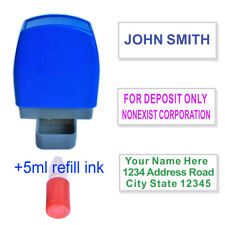 Custom Name Self Inking Stamp Personalized Return Address Up to 3 Lines 5cc ink