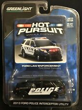 Greenlight Hot Pursuit 2013 Ford Motor Company Police Interceptor DELA8025