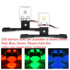 2x Red Blue Green LED Devil Demon Eyes DRL Car Headlight Projector Lens Retrofit