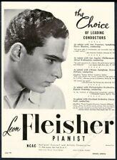 1948 Leon Fleisher photo piano recital tour booking trade print ad