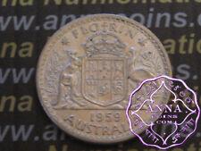 Australia 1959 QEII Florin X1, High Condition