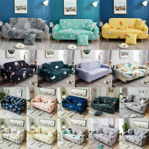 1-4 Seater Sofa Covers Slipcover Elastic Stretch Settee Protector Couch Floral