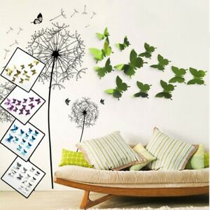 3D Mirror Butterfly Wall Sticker Decal DIY Home Room Art Mural Decor Removable