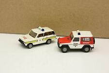 Herpa 1/87 HO - Lot de 2 Range Rover et Mercedes Classe G Pompiers Feuerwehr