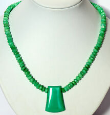 Chrysoprase Necklace Precious Stone Faceted ca.236ct))