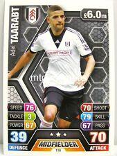 Match Attax 2013/14 Premier League - #116 Adel Taarabt - Fulham