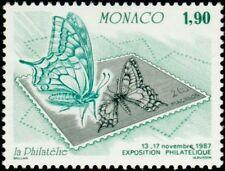 """MONACO N° 1585 """"EXPOSITION OETP, PAPILLON ET TIMBRE POSTE 1 F 90"""" xxTTB"""