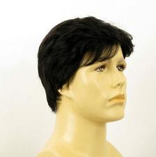 Perruque homme 100% cheveux naturel noir ref ALAIN 1b