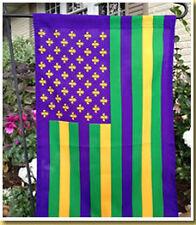 Mardi Gras American Garden Flag