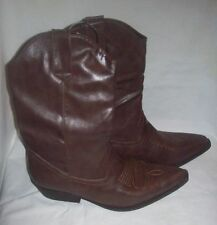 Madden Girl western boots brown sz 8 NEW
