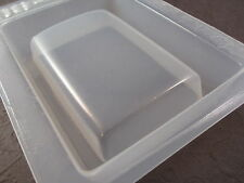 """Resin Mold SECONDS Rectangle Base 3.5x2.3"""" 60x93mm Domed Tile Paperweight Buckle"""