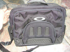 Oakley Tactical Field Gear Laptop Messenger Bag Briefcase Black 100% Nylon 16x12