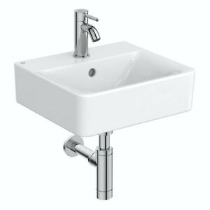 Ideal Standard Concept Cube 1Tap hole wall hung basin 400mm NO TAP OR WASTE TRAP