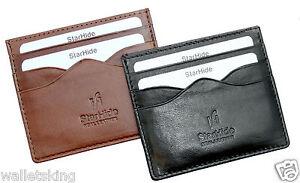 Starhide Mens Genuine Leather Ultra Slim Credit Card Case Holder / Oyster Pass