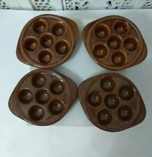 LOT OF 4 ESCARGO DISHES OVENPROOF ESCARGO DISHES