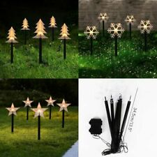 Christmas Tree Snowflake Star Pathway Light For Home Garden LED Lawn Stick 5pcs/