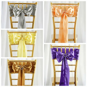 Gold CHIFFON Curly CHAIR SASH Wedding Party Decorations WHOLESALE SALE