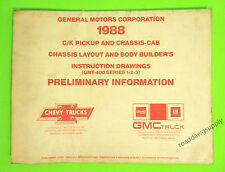 1988 Chevy GMC Truck Chassis & Body Builders Shop Manual C/K 1500 2500 3500