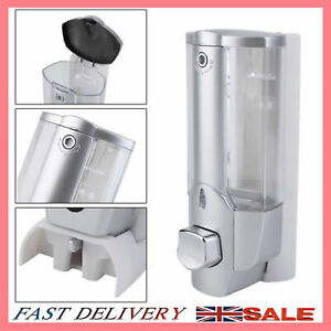 Wall Mounted Soap Dispenser Liquid Hand Wash Toilet Bathroom Shower Gel Pump