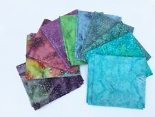 10 x Batik Fat Quarter Bundle 100% Cotton.