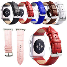 38/42mm Leather Band Bracelet for iWatch Apple Watch Series 5 4 3 2 1 40/44mm UK