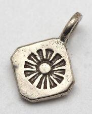 Sterling Silver Pendant Charm 925 STAMPED Sunshine Handmade Vintage not scrap