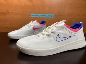 Nike SB Nyjah Free 2 T Men's Size 7 White Blue Pink Skate Sneakers CU9220-100