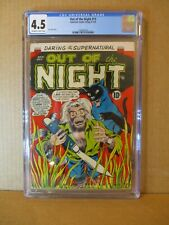 Out of the Night 15 CGC 4.5 RARE: JUST 2 FINER! 1954 ACG Horror Ken Bald Vampire