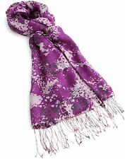 New Tolani 100% silk purple print scarf wrap 5563 $86