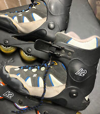 K2 Ascent Women's Black-Blue Rollerblades Inline Skates Size 9