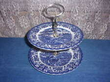 British Anchor Olde Country Castles Two Tier Tidbit Tray