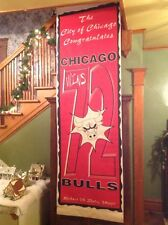 Chicago Bulls basketball 72 win season real street banner Michael Jordan 1996