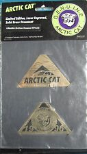Arctic Cat L.E. Laser Engraved Solid Brass Ornament Rare Vintage 1996 4979-335