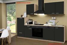 Küche ohne Elektrogeräte Küchenzeile ohne Geräte Einbauküche 280 cm schoko-braun