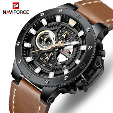 Chronograph WATCH FOR MEN Waterproof Analog Army Sport Leather Quartz US SELLER