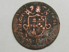 PAPAL States Coin: 1802 ½ Baiocco. Pope Pius VII. KM-1265.  #16