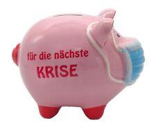 Sparschwein mit Maske Mundschutz Mundnasenbdeckung  nächste Krise 16 cm