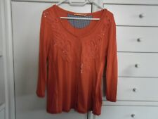 Biba Cardigan Pullover Top Shirt Bluse rot M