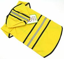 "LM Fashion Pet Rainy Day Dog Slicker - Yellow Medium(14""-19"" From Neck Base to T"