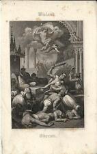 Stampa antica WIELAND Oberon 1860 Old antique print Alte stich