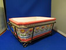 Temp-Tations Presentable Ovenware By Tara Sharing Rectangular Dish W/ Trivet #2